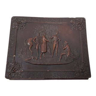 Mid 19th Century Gutta Percha Box W/ Photo's & Notes on Genealogy For Sale