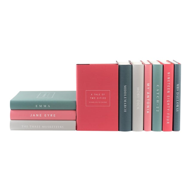 The Modern Classics Book Collection - Set of 10 in Bright Colors For Sale