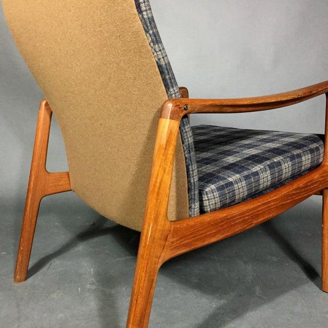 Fabric Ole Wanscher Teak Armchair, France & Søn, Denmark 1950s For Sale - Image 7 of 11
