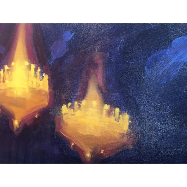 """Sheldon Greenberg """"Chandelier"""" Contemporary Painting For Sale In San Diego - Image 6 of 8"""