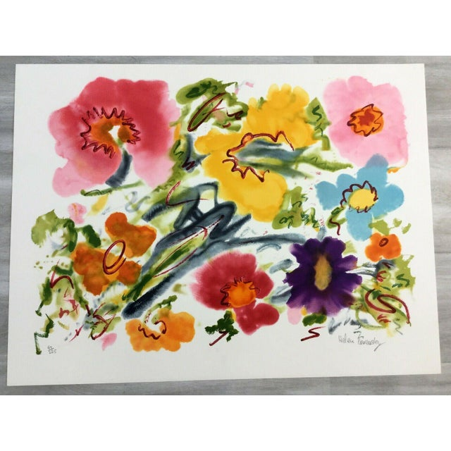 Mid Century Modern Unframed Cosmic Feeling Helen Covensky Hand Signed Lithograph For Sale - Image 4 of 4