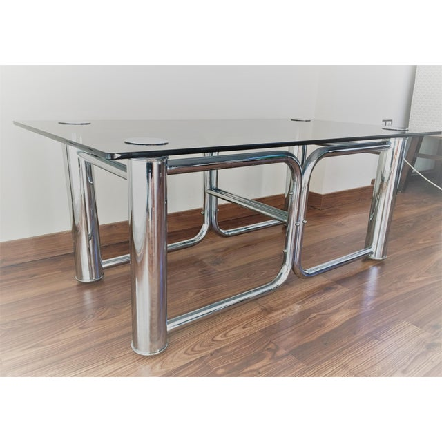 Mid-Century Modern Chrome Coffee Table - Image 7 of 11