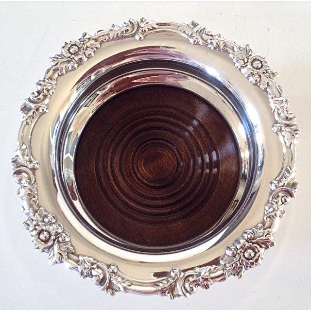 English Silver Wine Coasters - Pair - Image 3 of 5