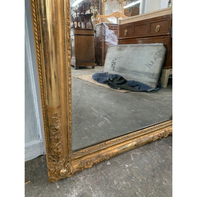 18th Century Ornate French Louis Philippe Style Mirror For Sale - Image 10 of 13