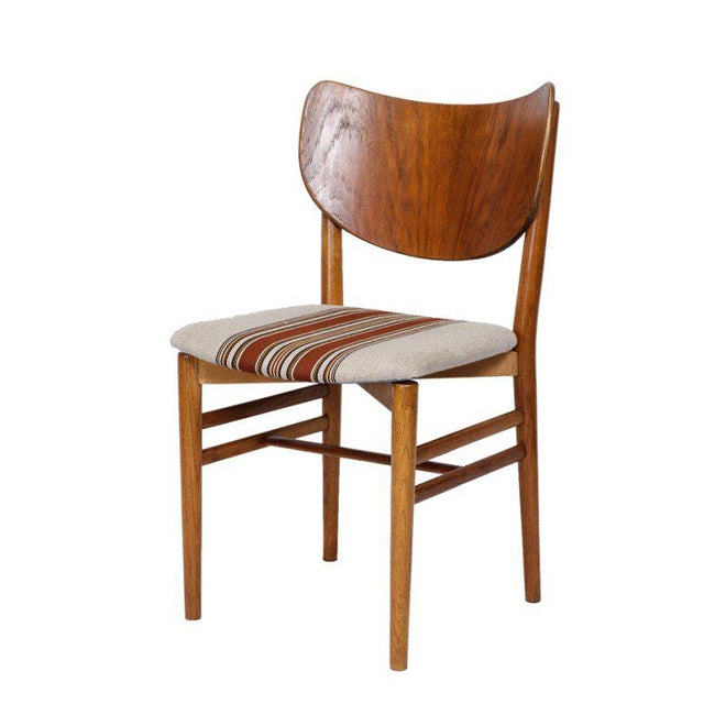 Fabric Set of 4 Eva & Niels Koppell Dining Chairs For Sale - Image 7 of 7