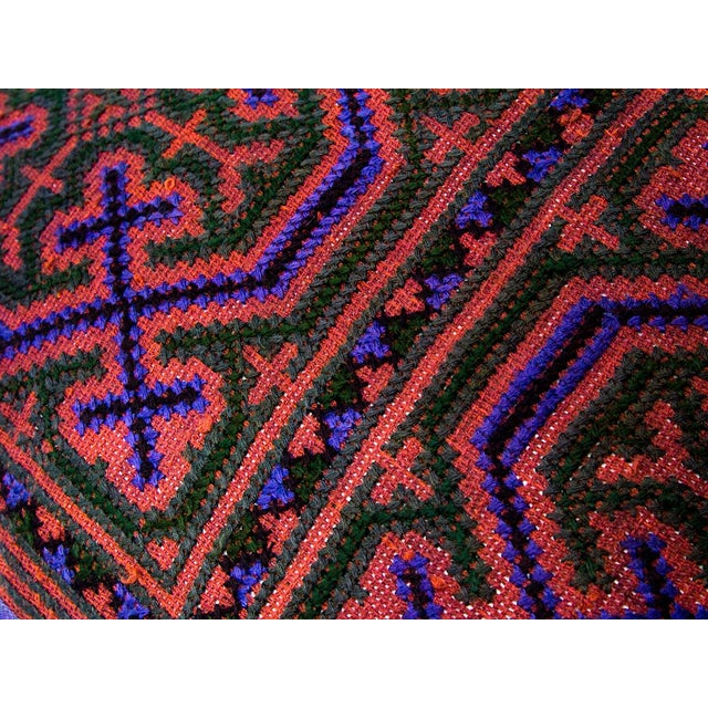 Hill Tribe Pillow - Handmade in Thailand Purple - Image 3 of 4