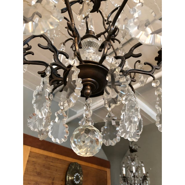 Crystal Large Vintage Marie Therese Multi Tier Chandelier For Sale - Image 7 of 11