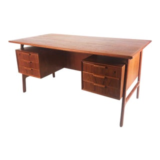 Vintage Danish Teak Gunni Omann Executive Desk