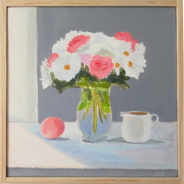 Bouquet With Peach and Creamer by Anne Carrozza Remick For Sale