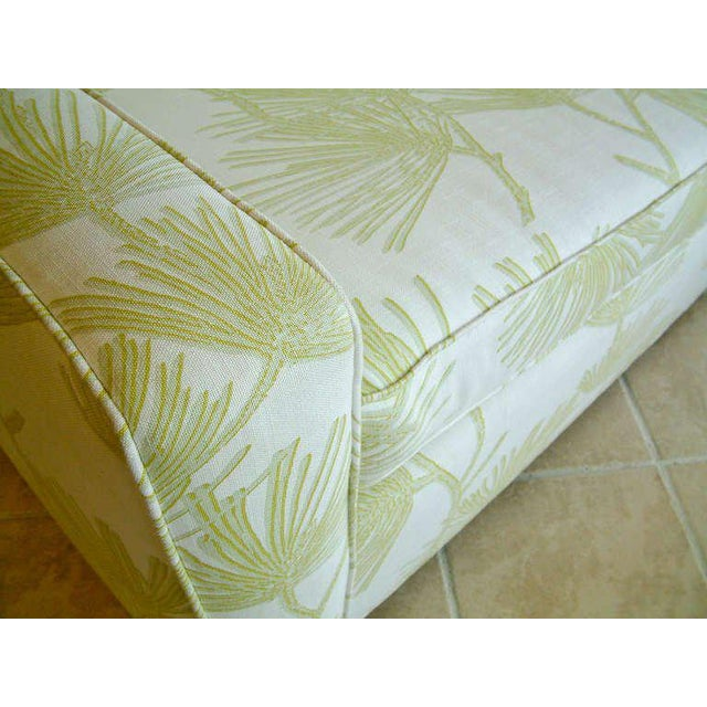 Early 20th Century Circa 1950 Mid-Century T. H. Robsjohn-Gibbings Cream and Green Custom Wan Sofa For Sale - Image 5 of 9
