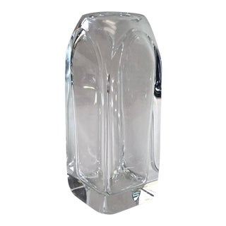 Vintage Edvard Hald for Orrefors Crystal Vase For Sale