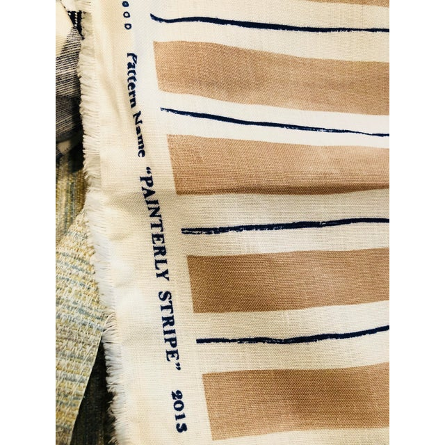 Rebecca Atwood Painterly Stripe Fabric For Sale - Image 5 of 7
