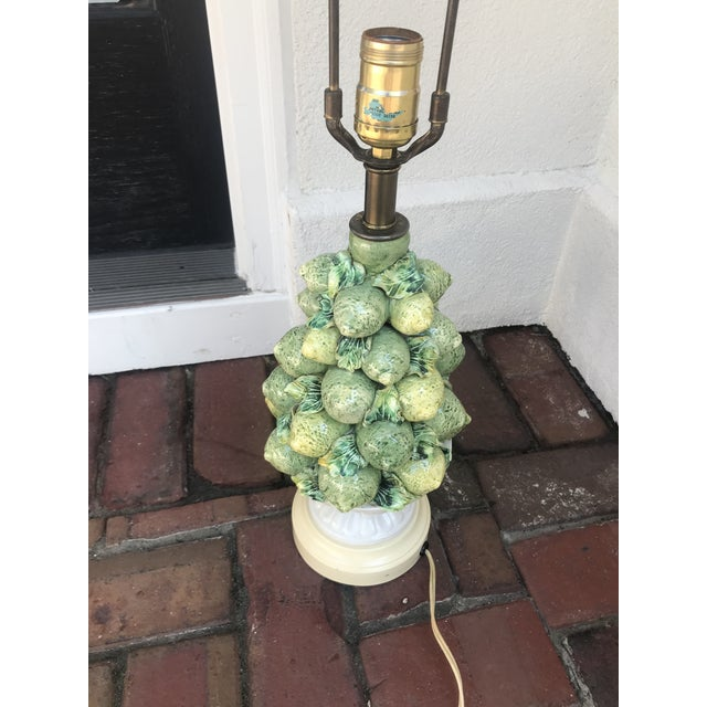 Lime Italian Lemons and Limes Topiary Lamp For Sale - Image 8 of 10