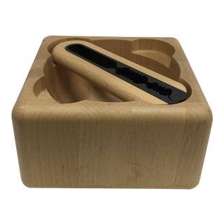 1960s Mid Century Danish Modern Digsmed Design Staved Teak Nut Bowl For Sale