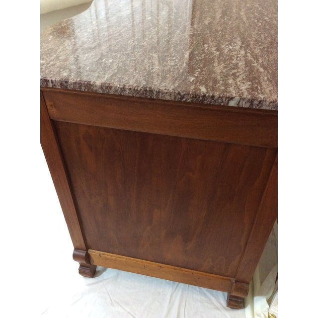 1910s Antique Marble Top Chest For Sale - Image 5 of 13