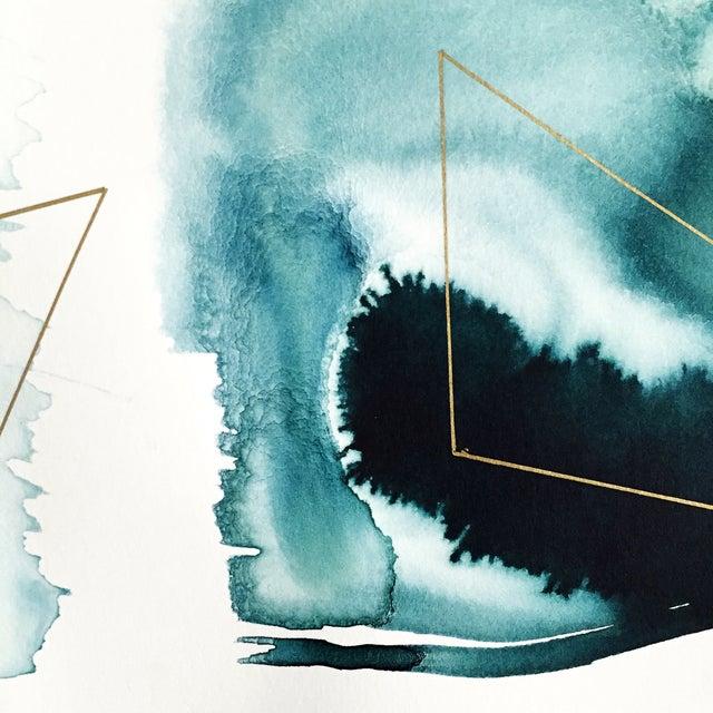 "Beth Winterburn Original Abstract, ""Ink Palette"" - Image 4 of 4"