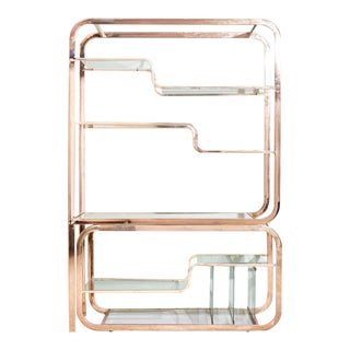1970s Milo Baughman Brass Etagere For Sale