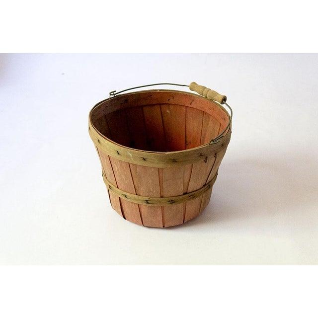 Wood Vintage Wood Slat Apple Basket For Sale - Image 7 of 7