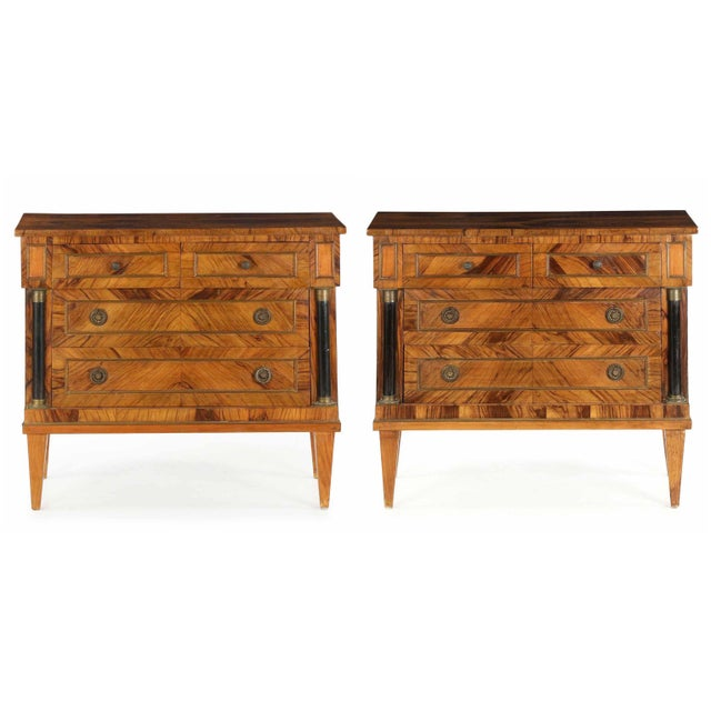 Early 20th Century Antique Empire Style Chests of Drawers - a Pair - Image 2 of 11