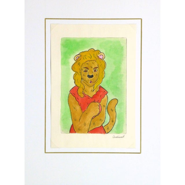 Ana May, Etching - the Lioness For Sale - Image 4 of 5