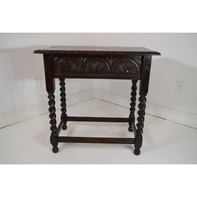 Brown Early 19th-Century English Georgian Oak Stand For Sale - Image 8 of 8