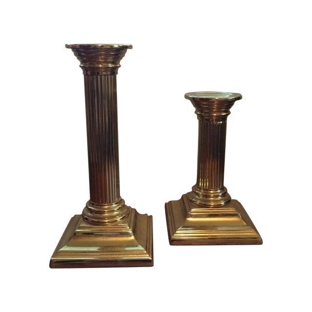 Baldwin Brass Column Candlesticks - APair - Image 1 of 6