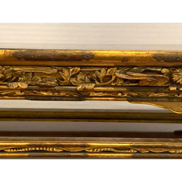 Early 20th Century Exquisite Meiji Period Gilt Lacquered and Brass Mounted Stand For Sale - Image 5 of 12
