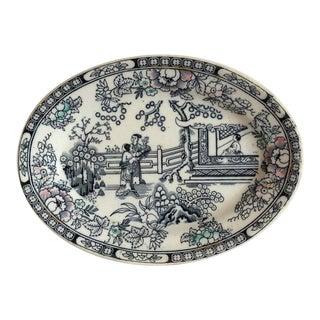 Petite Chinoiserie Ironstone Platter For Sale