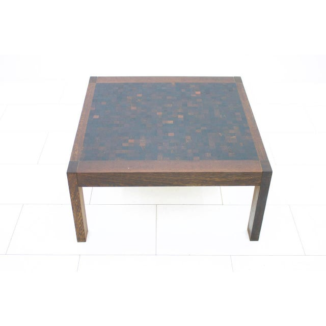 Dieter Waeckerlin Mosaik coffee table in Wenge, Switzerland, 1960s. Very good condition. Worldwide shipping.