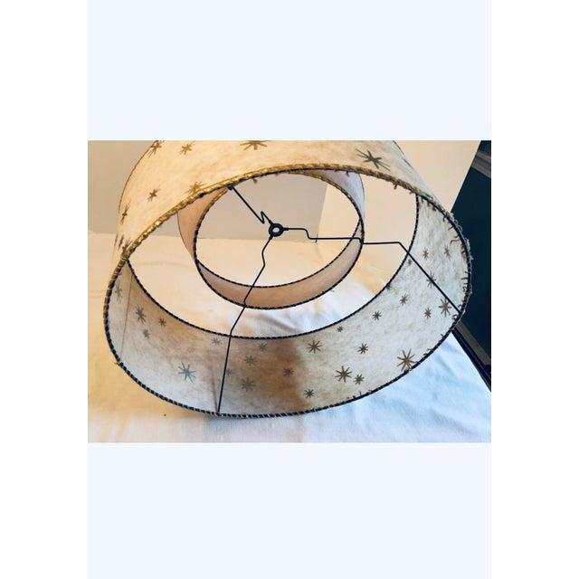 Vintage Mid-Century Modern Starburst Atomic 2 Tier Fiberglass Lamp Shades - a Pair For Sale - Image 10 of 12