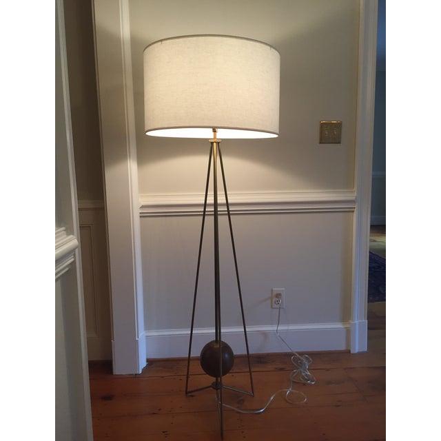 Jonathan Adler Ohai Walnut & Brass Lamp - Image 4 of 10