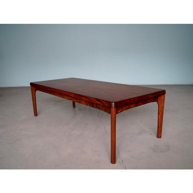 Mid-Century Danish Modern Rosewood Coffee Table For Sale In Los Angeles - Image 6 of 12