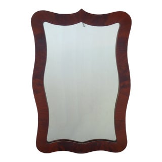 Flame Mahogany Mirror For Sale
