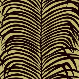 Sample - Schumacher Zebra Palm Wallpaper in Java For Sale