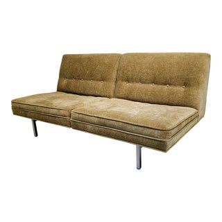 Mid Century Modern George Nelson for Herman Miller Olive Green Sofa For Sale