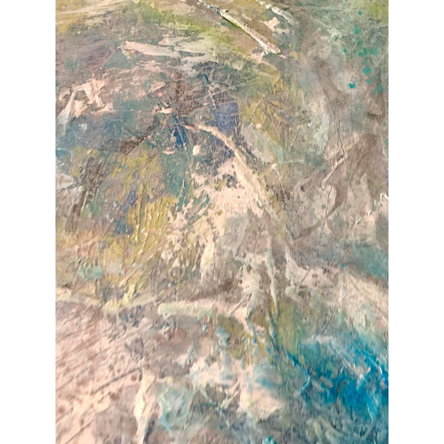 """Paint Original Mixed Media Painting, """"Cosmic Swirls"""" For Sale - Image 7 of 11"""