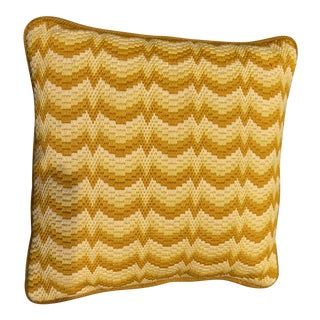 Vintage Bargello Flamestitch Pillow For Sale