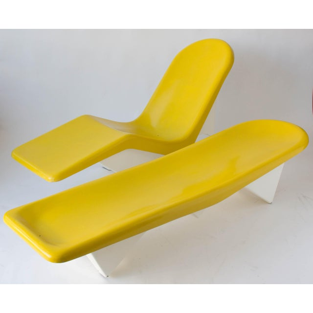 California-Made Fiberglass Patio Lounge Chairs - A Pair - Image 2 of 11