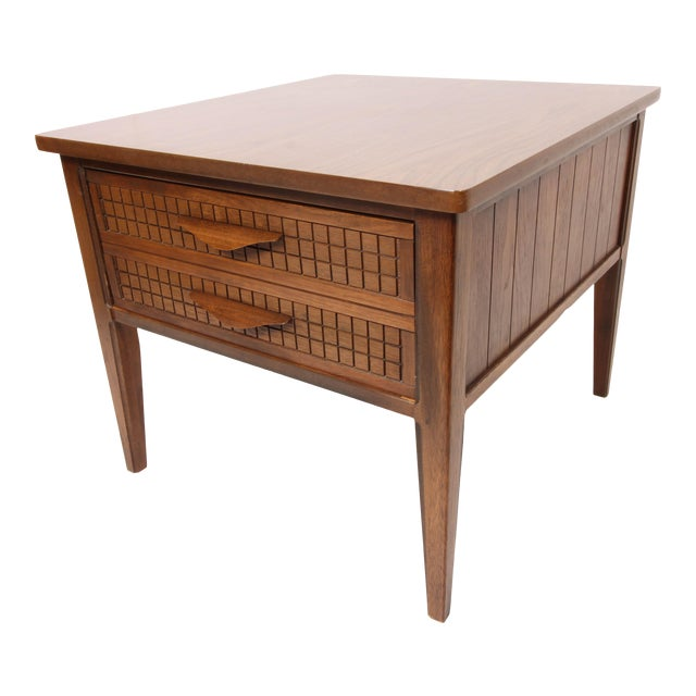 Mid Century Modern Single Drawer Side Table For Sale