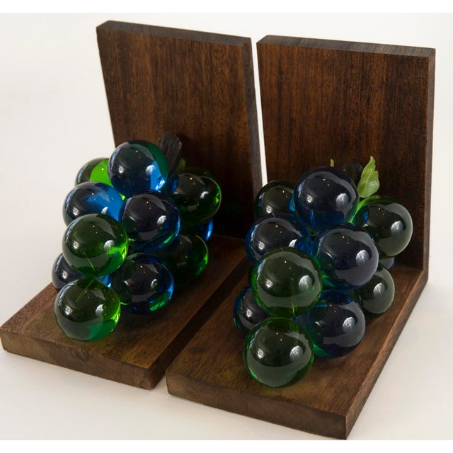 Mid-Century Lucite Grape Bookends- A pair - Image 6 of 10
