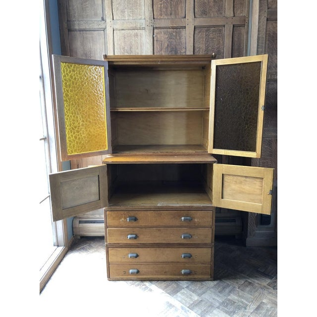 1920s Antique Yawman and Erbe Oak Stacking File Cabinet For Sale - Image 5 of 11