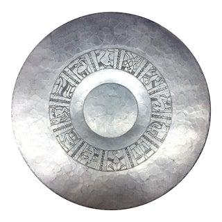 Arthur Armour Art Deco Large Zodiac Aluminum Charger