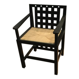 Charles Renni Mackintosh Candida Black Ashwood Cottage Chair For Sale