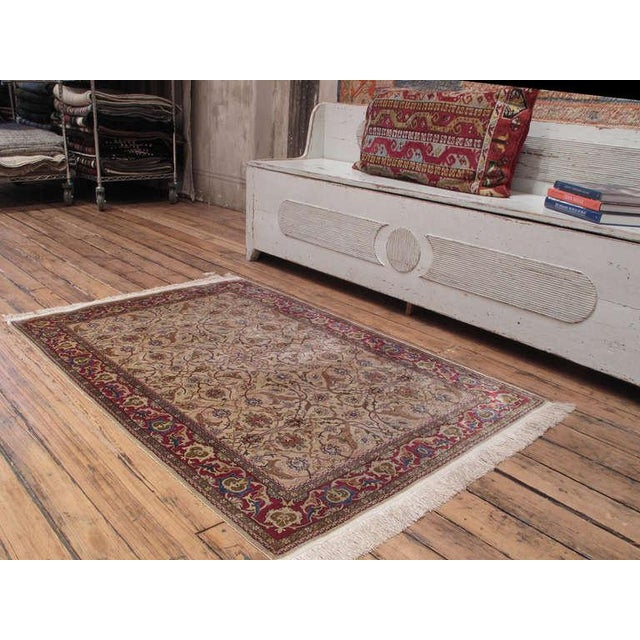 Traditional Silk Hereke Rug For Sale - Image 3 of 10