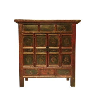 19th Century Chinese Treasure Chest, Hand Painted For Sale