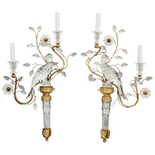 1970s Vintage Maison Baguès Style Wall Sconces- A Pair For Sale