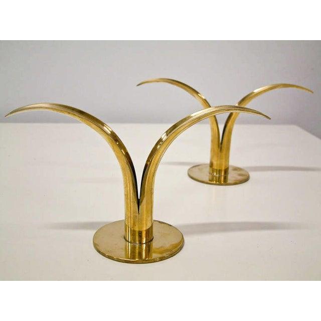 Ivar Ålenius Björk Circa 1950 Grouping of 11 Swedish Ystad Metall Brass Candleholders For Sale - Image 4 of 11