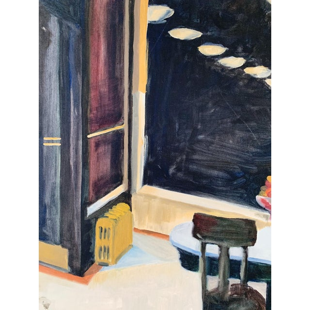 1970s Vintage Italian Oil on Canvas Painting For Sale - Image 4 of 6