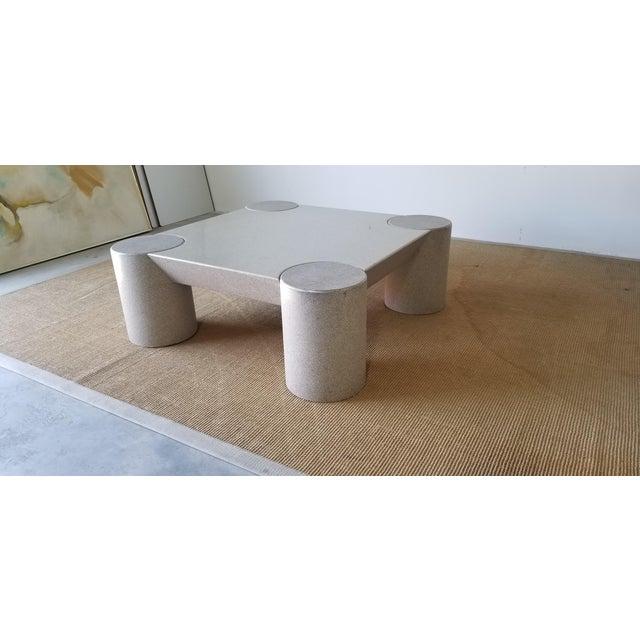 Wood 1980s Karl Springer Style Italian Postmodern Coffee Table For Sale - Image 7 of 10