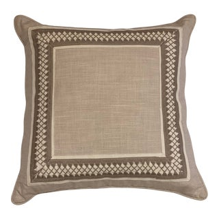 Travers Beige Worth Avenue Rocina Strie Pillow Cover For Sale